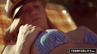 TEENFIDELITY – Bailey Brooke Creampied By Her Friend's dad